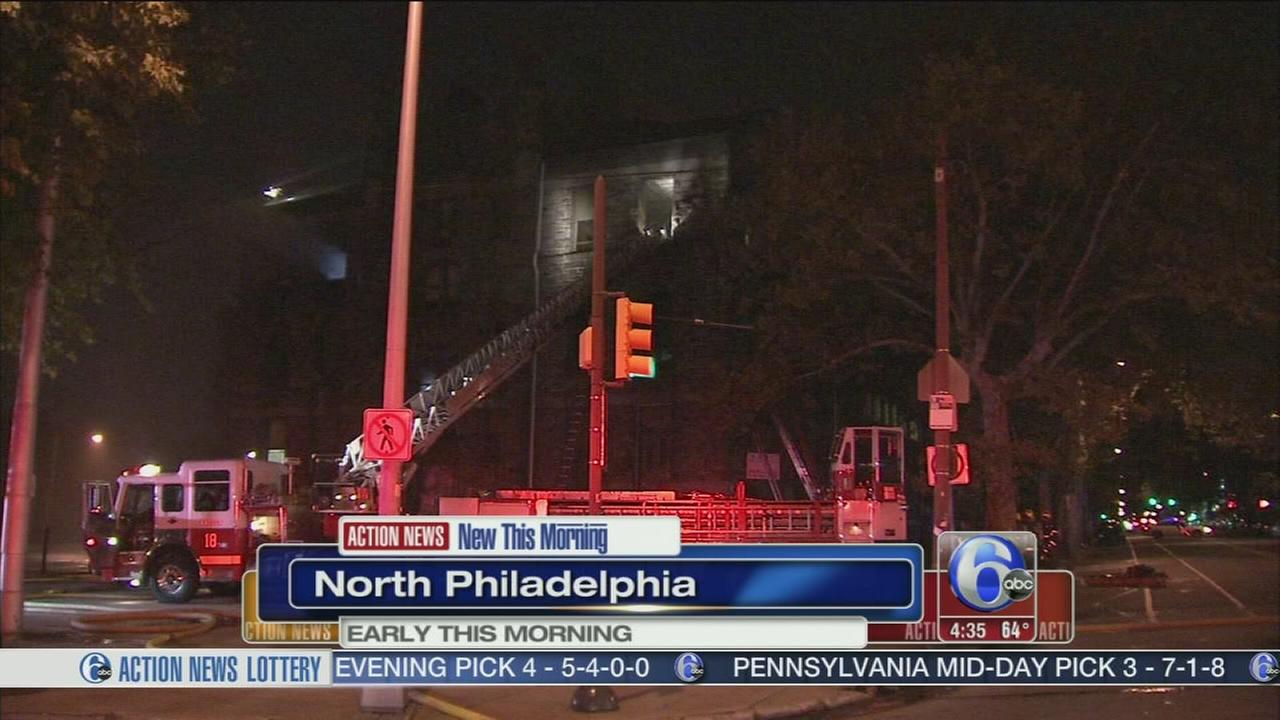 VIDEO: Smoke and flames inside vacant school in North Philly