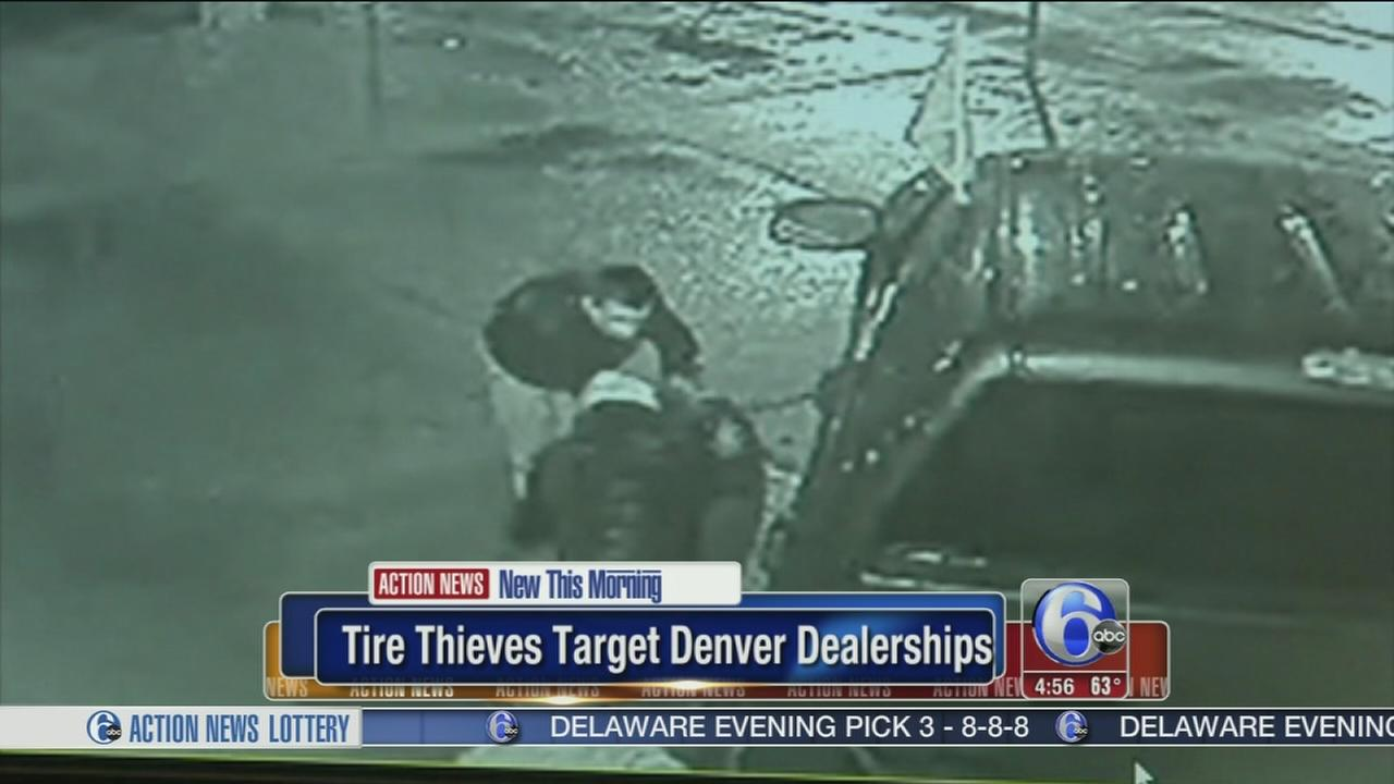 VIDEO: Tire thieves target Denver dealerships