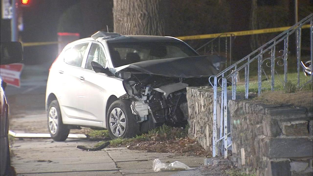 Suspect in custody after crash
