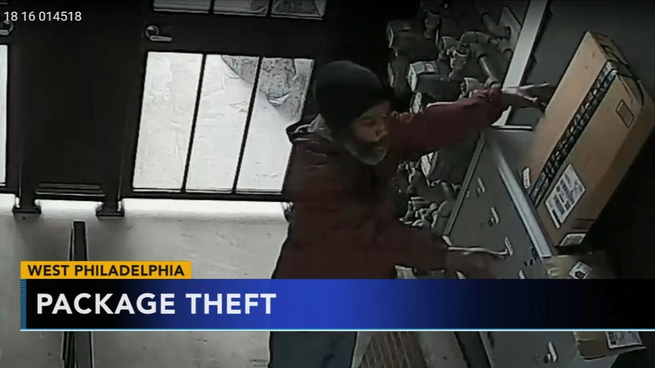 Man sought in West Philadelphia package theft
