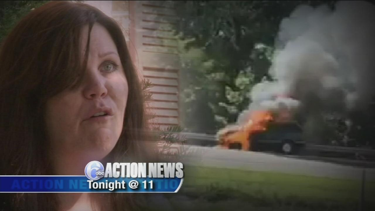 VIDEO: Newly-purchased SUV bursts into flames