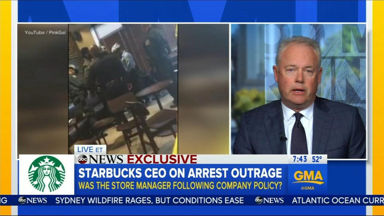 Starbucks CEO speaks to GMA