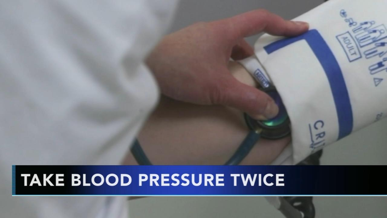 Studies show blood pressure should be checked twice in a row