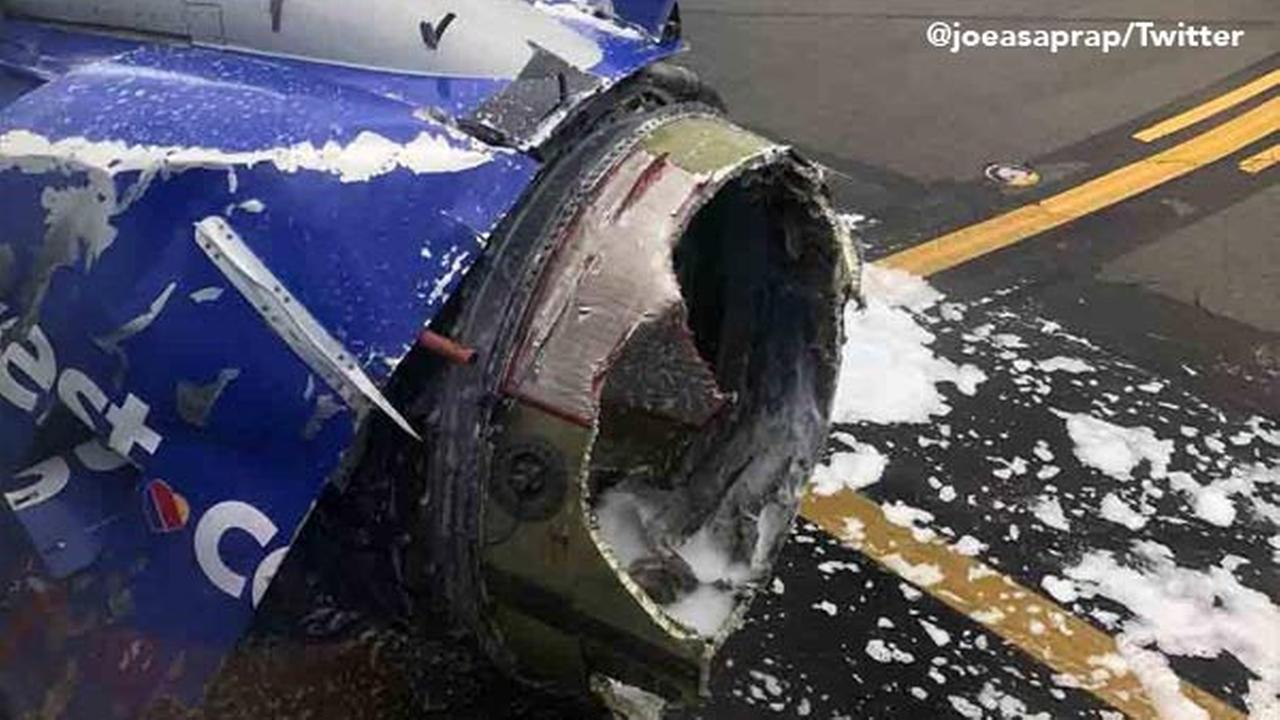 Southwest Airlines plane makes emergency landing at Philadelphia International Airport
