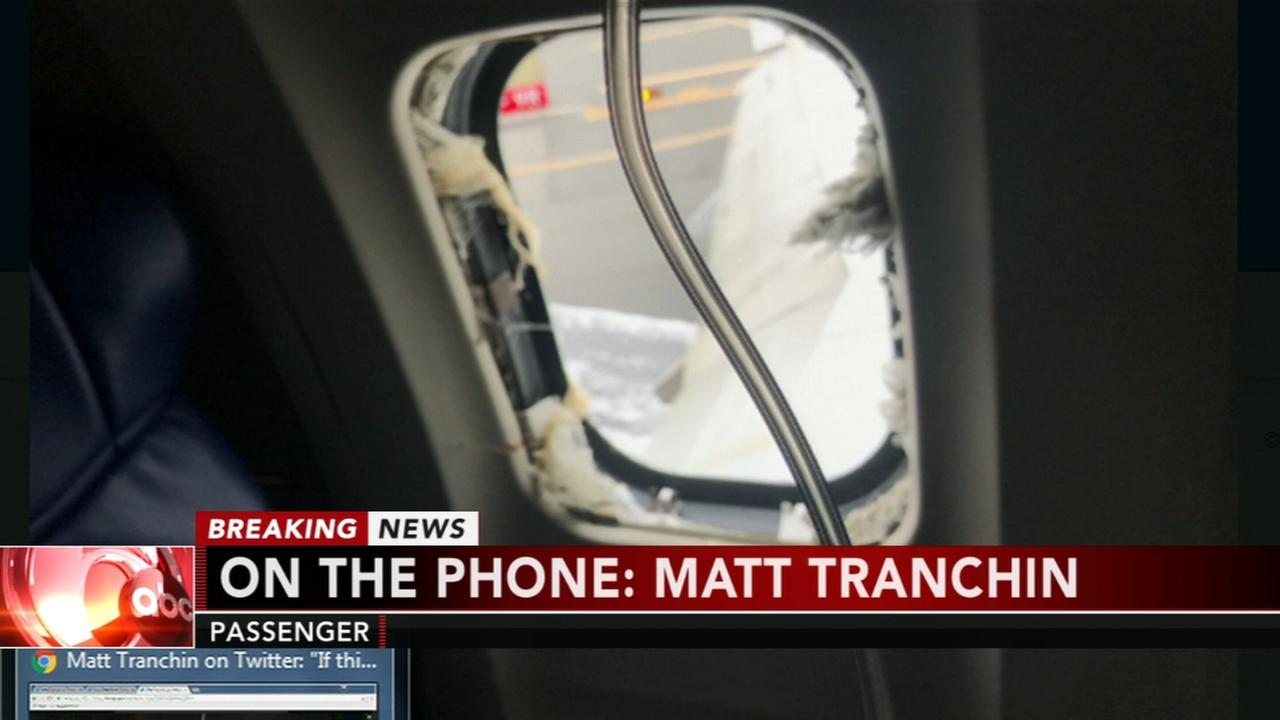Passenger Matt Tranchin recalls emergency landing