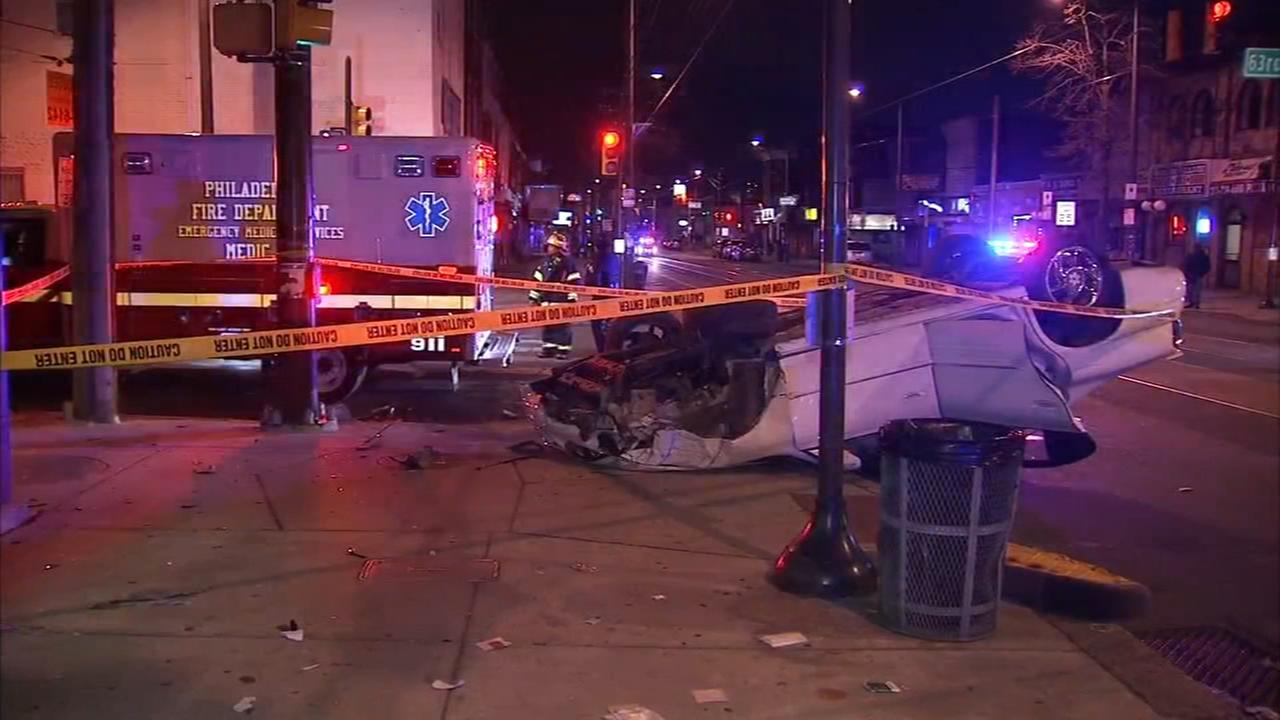 Woman injured in vehicle crash in Southwest Philadelphia