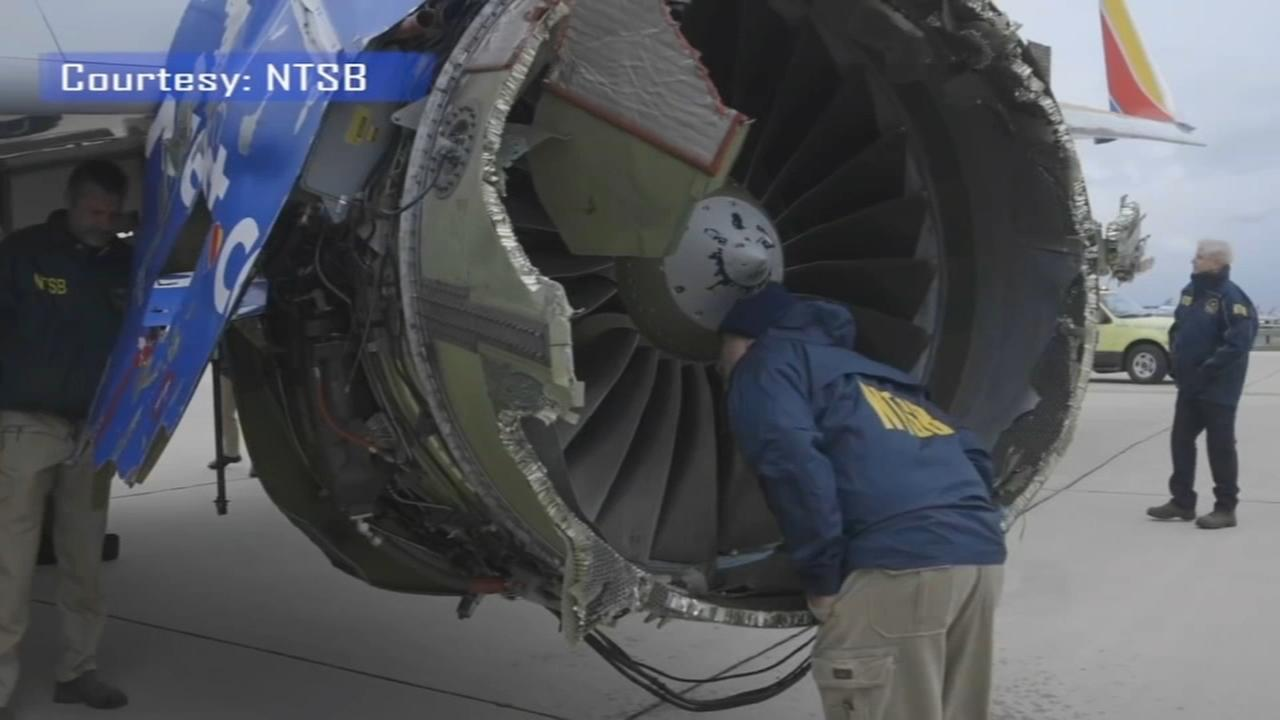 Investigators seek clues in Southwest engine explosion