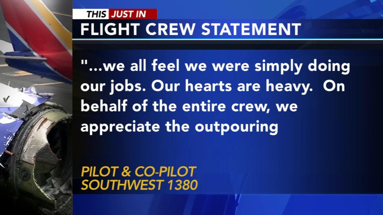 Southwest flight crew issues statement