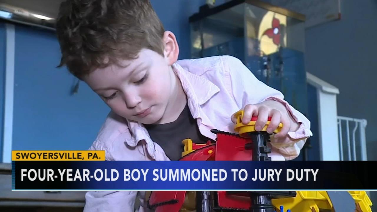 4-year-old boy summoned to jury duty