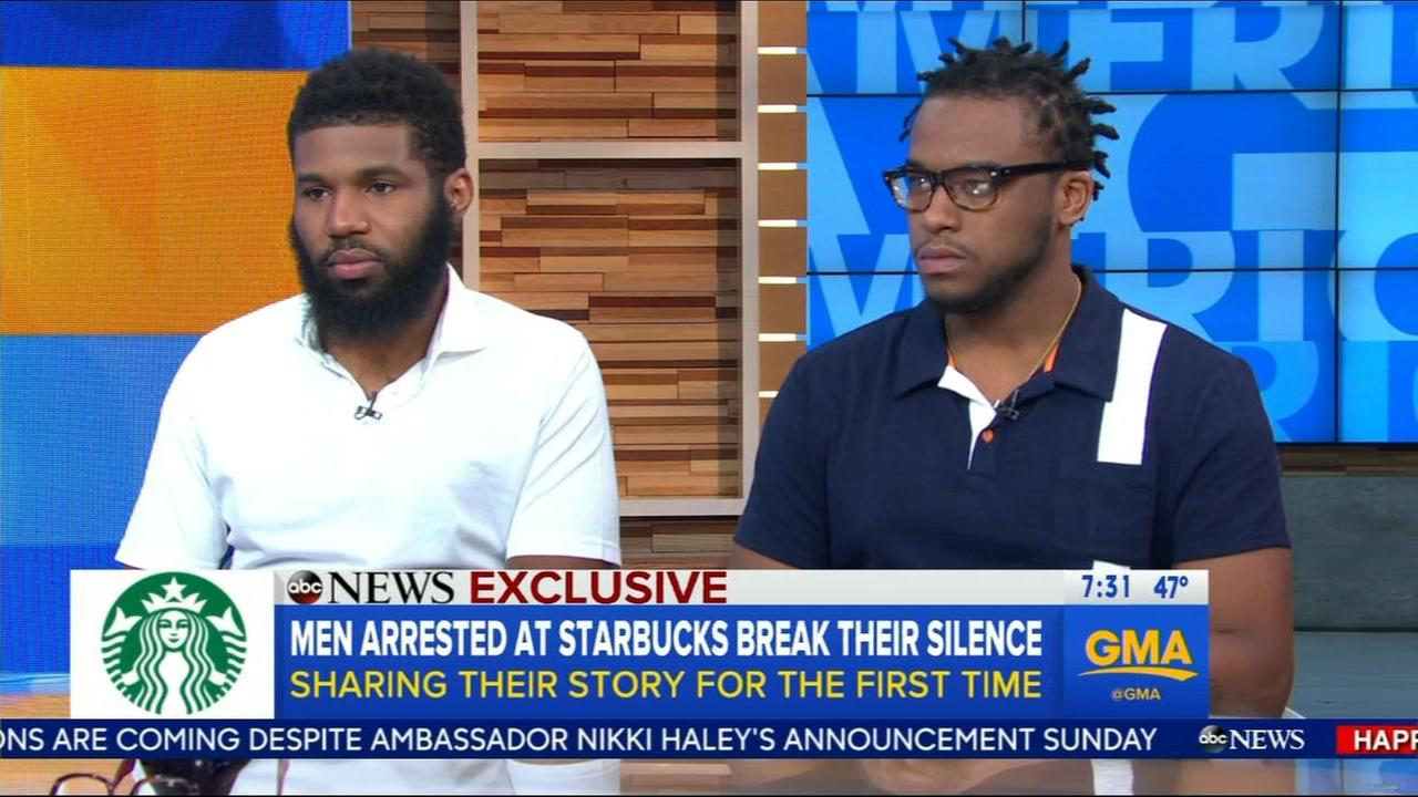 2 men arrested at Philadlephia Starbucks break their silence