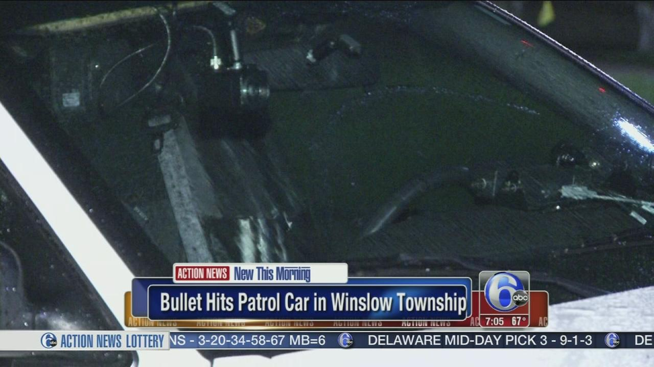 VIDEO: Suspect fires shot at patrol car in Winslow Township