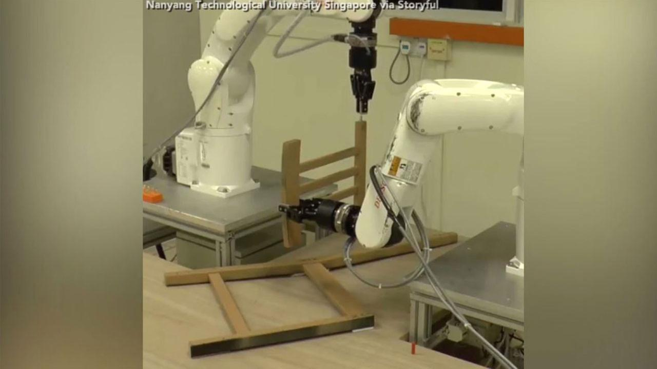Researchers develop Ikea furniture building robots