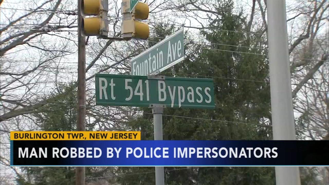 3 police impersonators sought for robbery in NJ