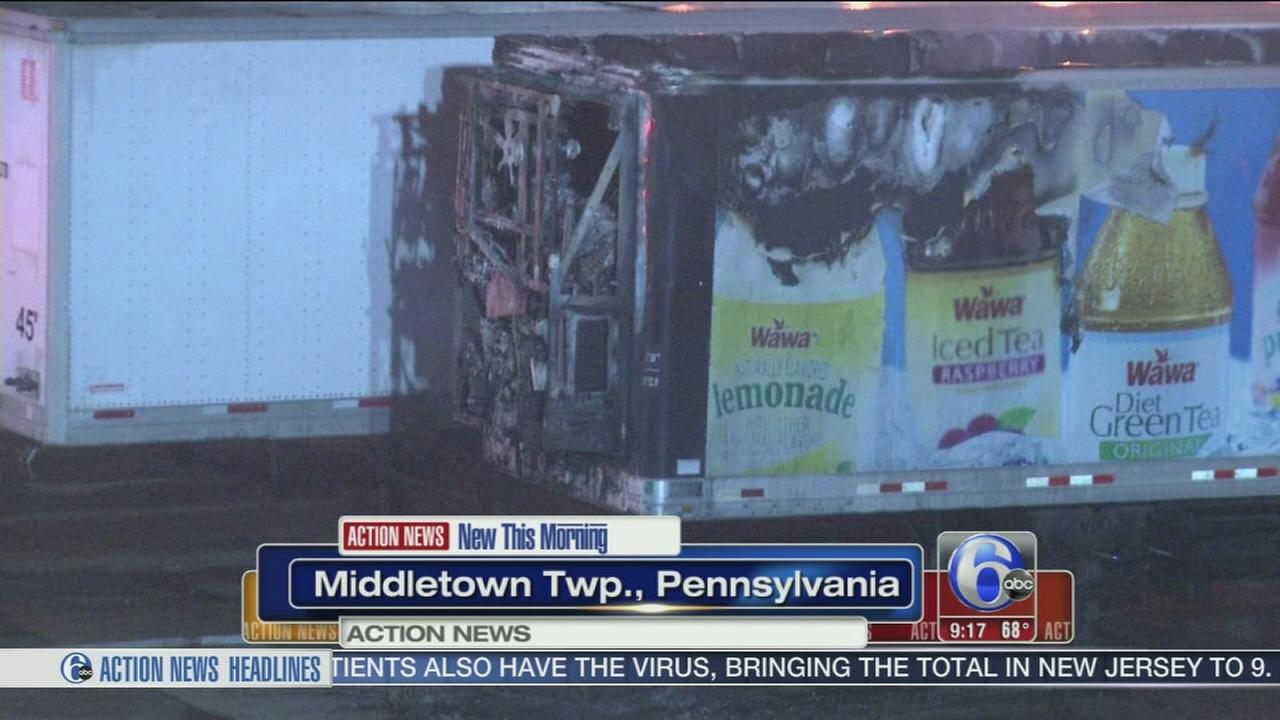 VIDEO: Fire destroys Wawa truck
