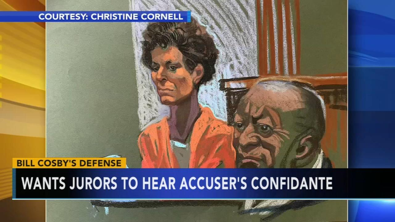 Cosby lawyers want jurors to hear from accusers confidante