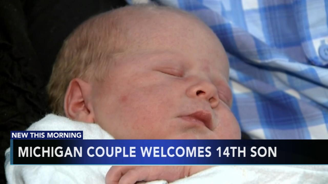 Michigan couple welcomes 14th son