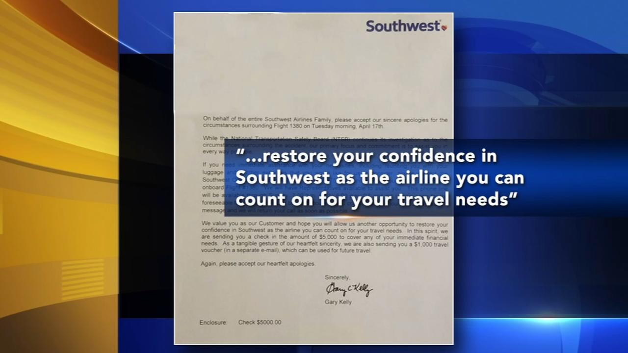 Southwest sends letter, $5K check, $1K voucher to passengers