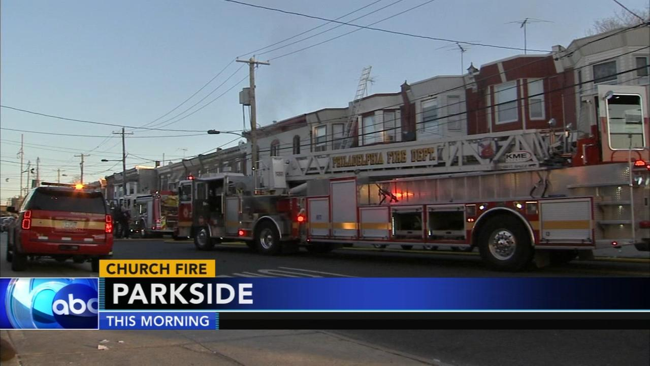Fire at Parkside church