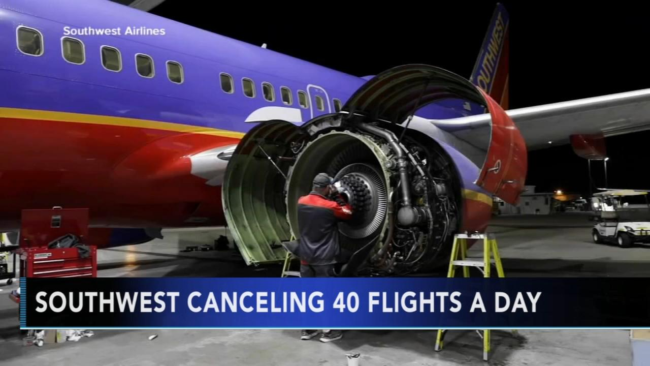 Southwest canceling 40 flights per day