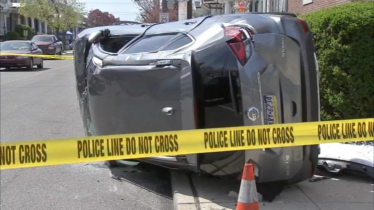 Teens spring into action rescue child from flipped SUV after crash in Cobbs Creek