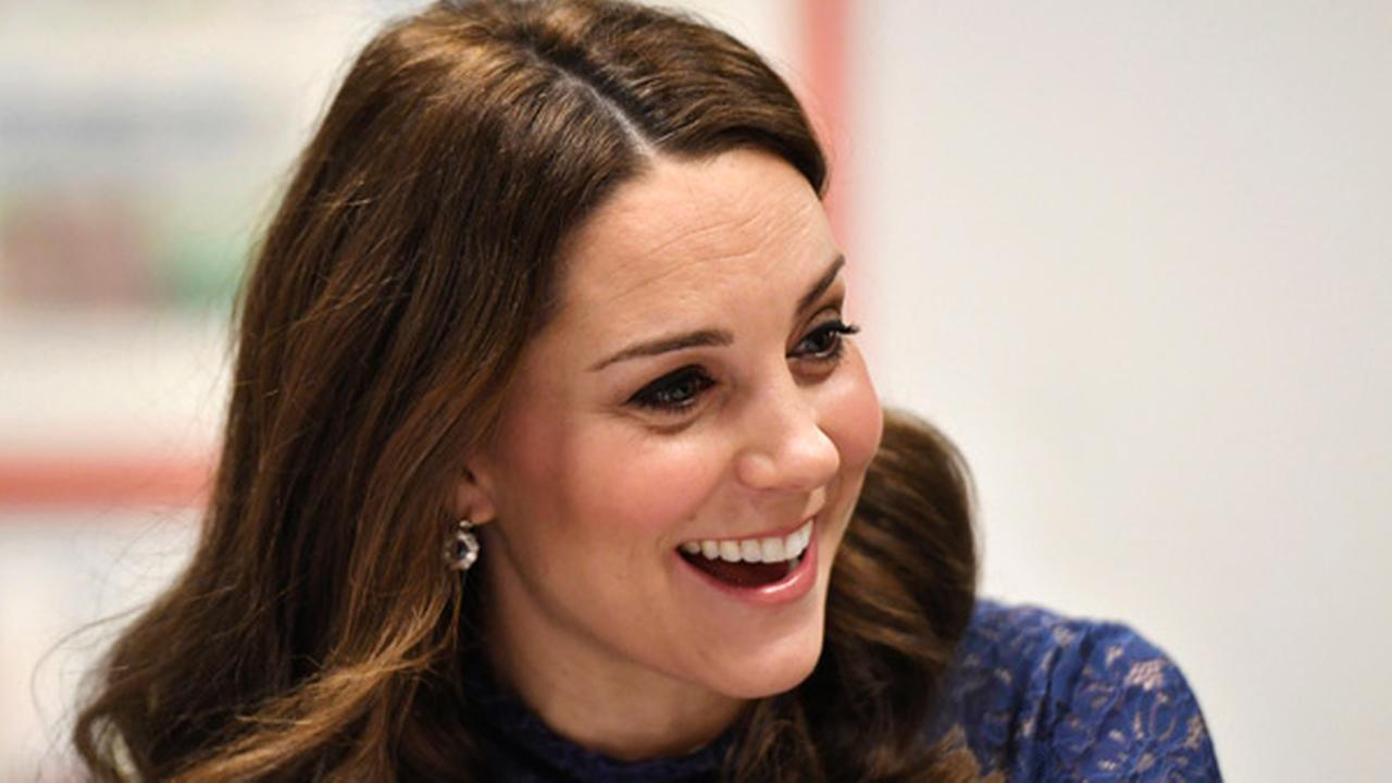 Britains Kate, the Duchess of Cambridge speaks to pupils from Albion Primary School, in central London, Wednesday March 7, 2018.