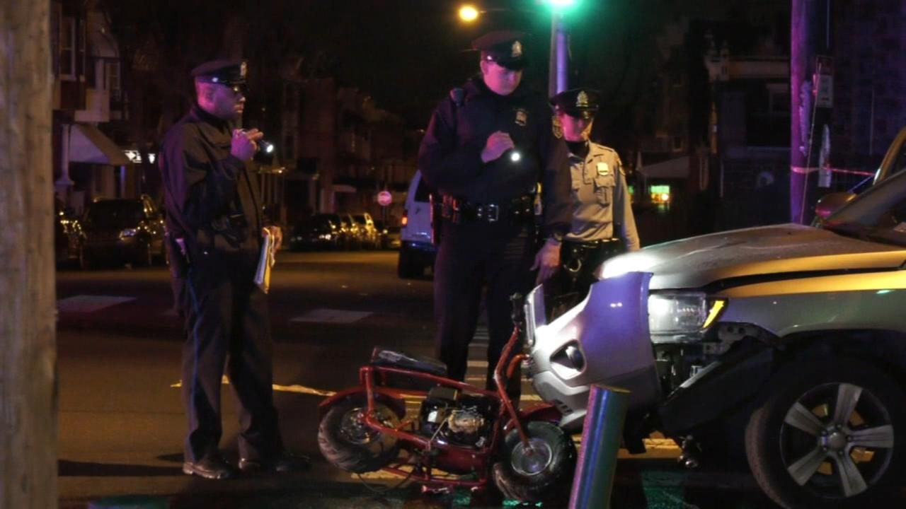 Action Cam: Scene of fatal minibike crash in West Phila.