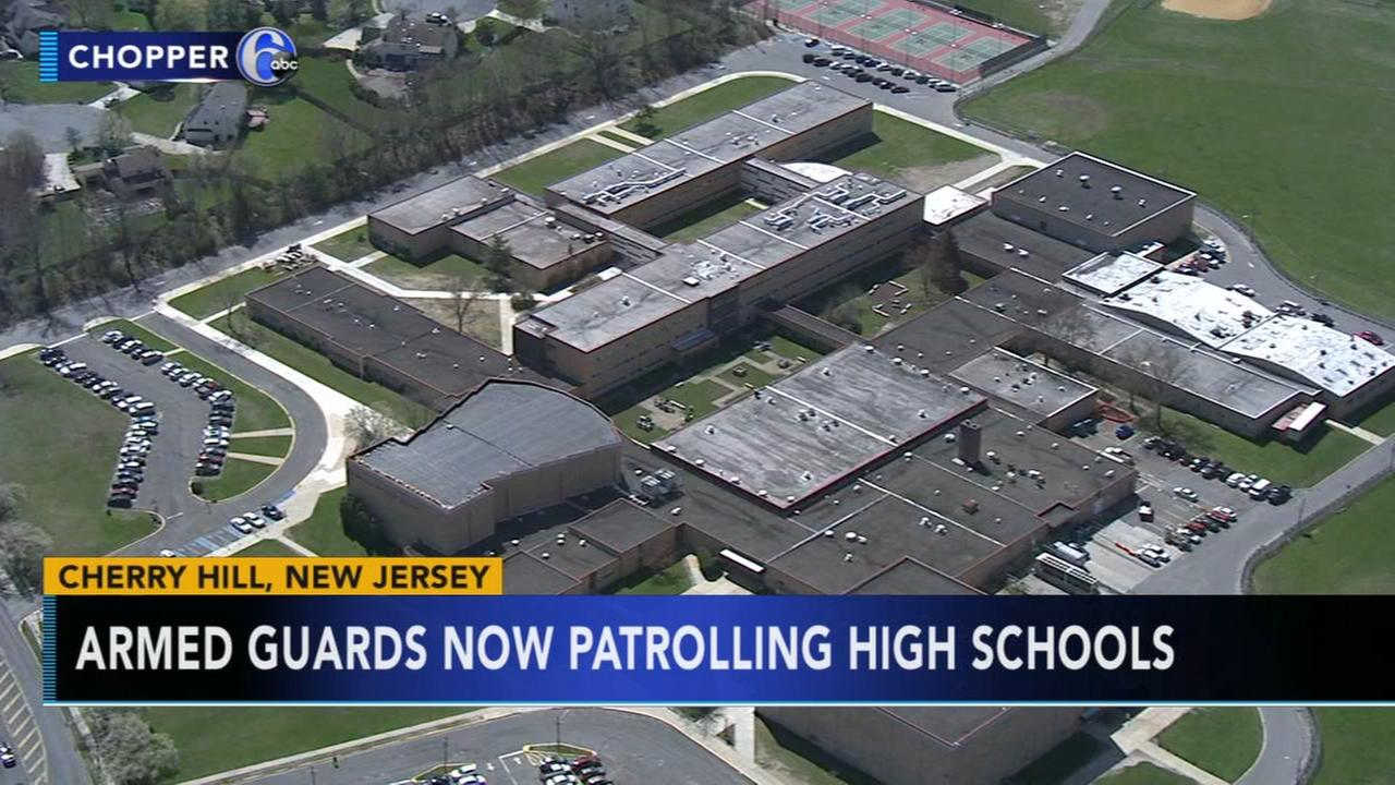 Armed officers being patrol of Cherry Hill high schools
