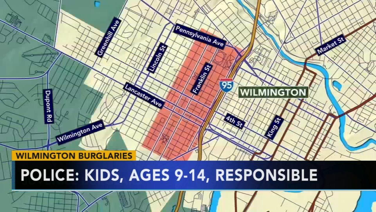Wilmington police said kids responsible for ring of burglaries
