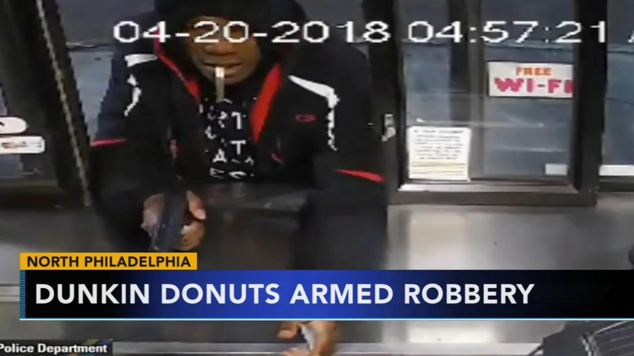 Police search for armed man who robbed Dunkin Donuts drive-thru