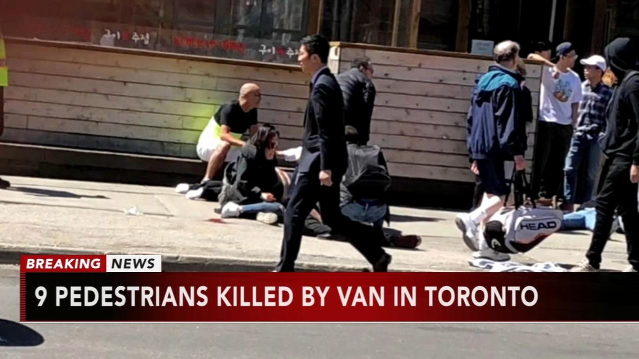 9 pedestrians killed by van in Toronto