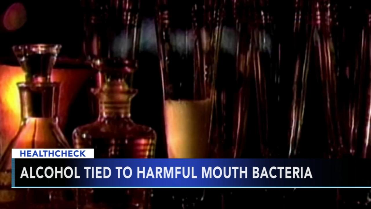 Alcohol tied to harmful mouth bacteria