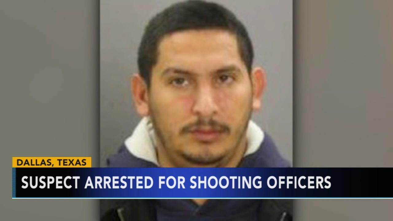 Suspect arrested for shooting officers