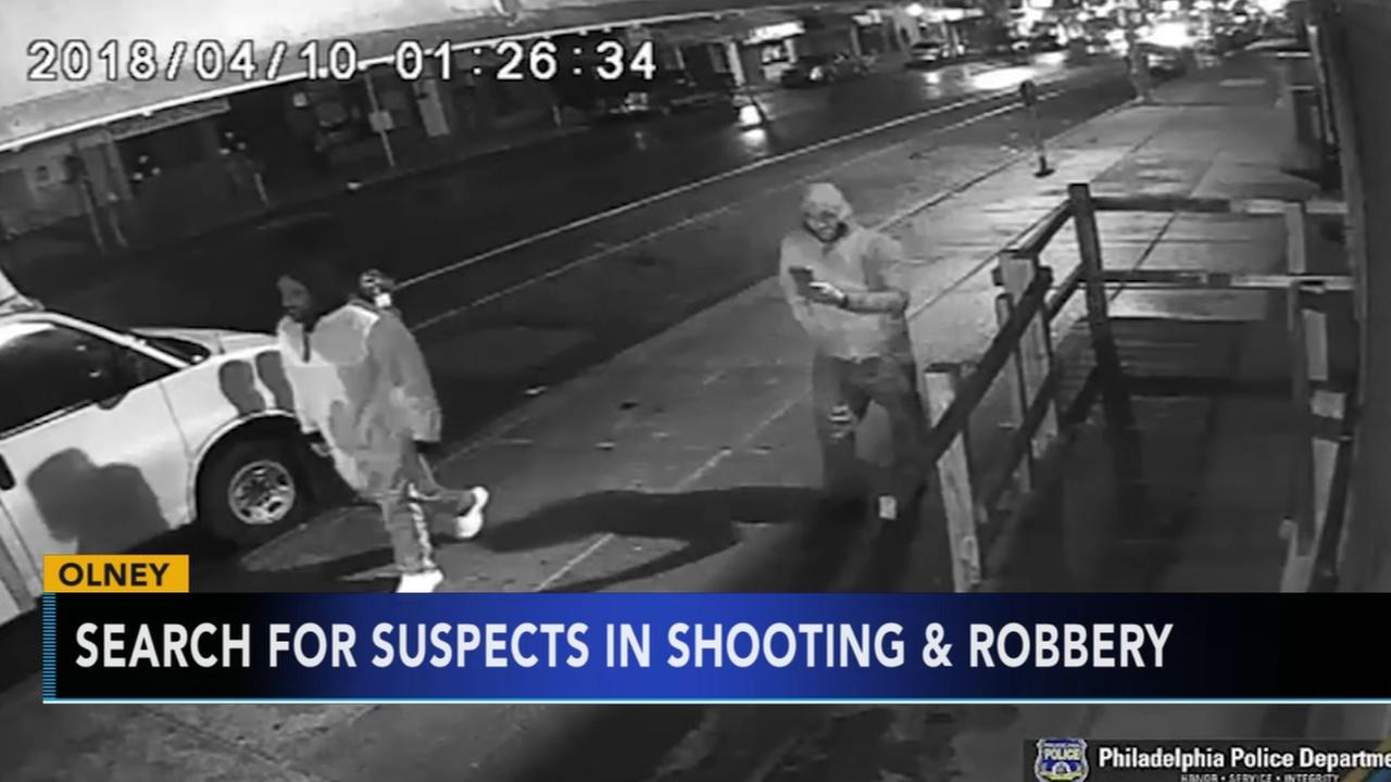 Man, 21, shot and robbed in Olney; suspects sought