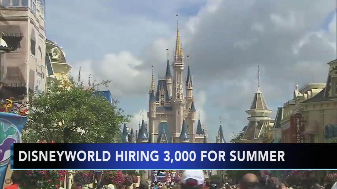 Walt Disney World hiring 3,500 new employees for summer