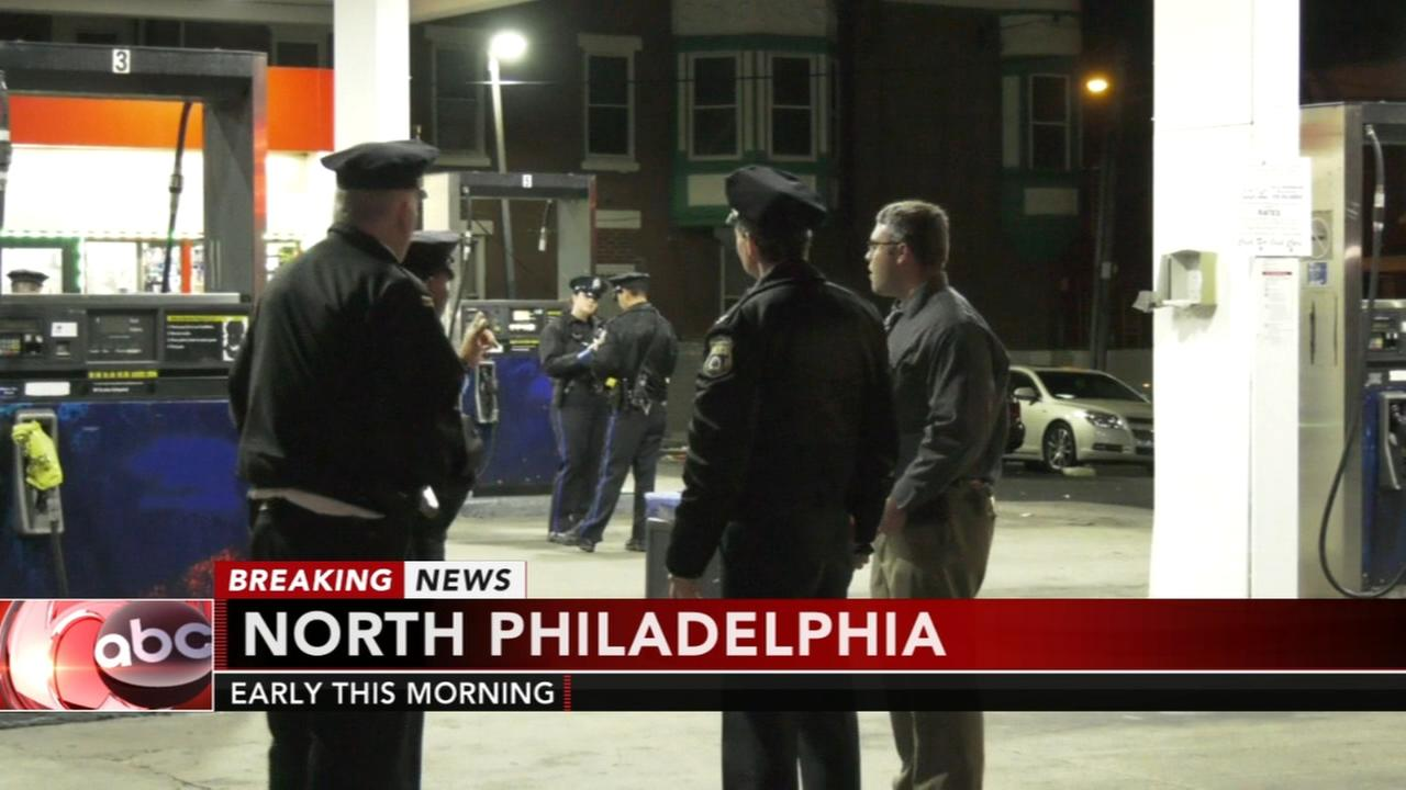 Shootout at North Philadelphia gas station
