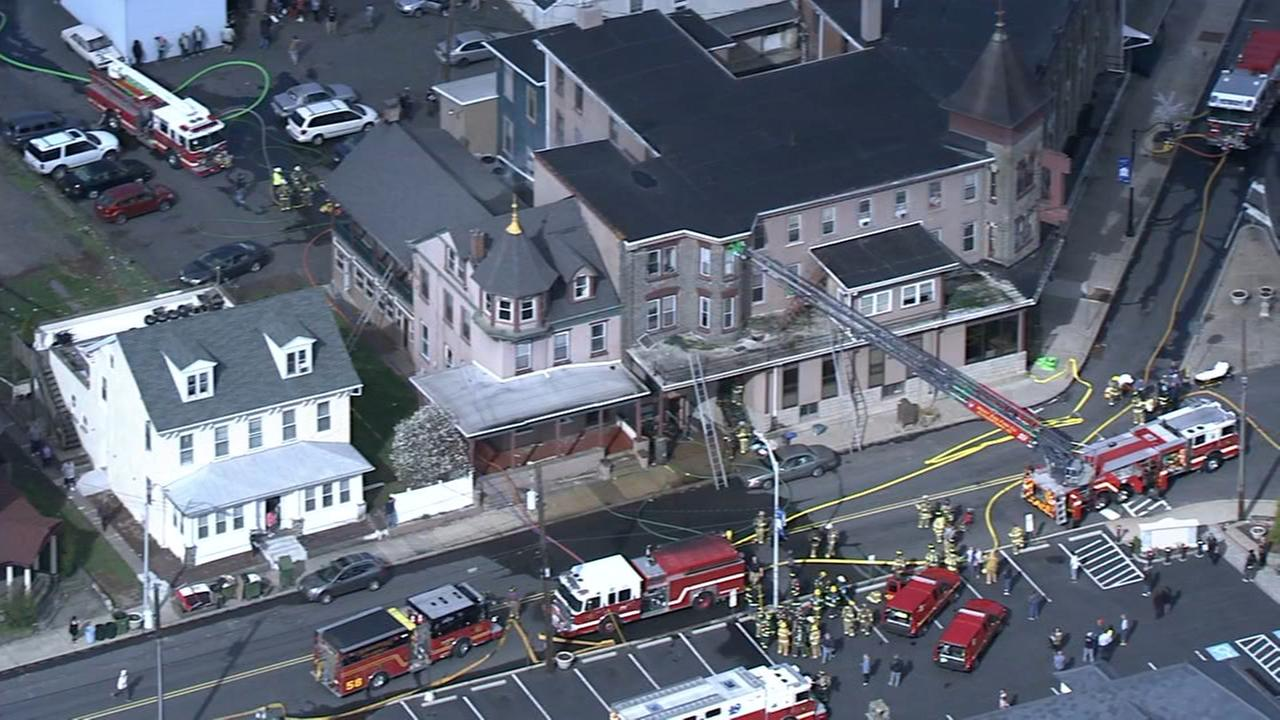 RAW VIDEO: Quakertown hotel fire