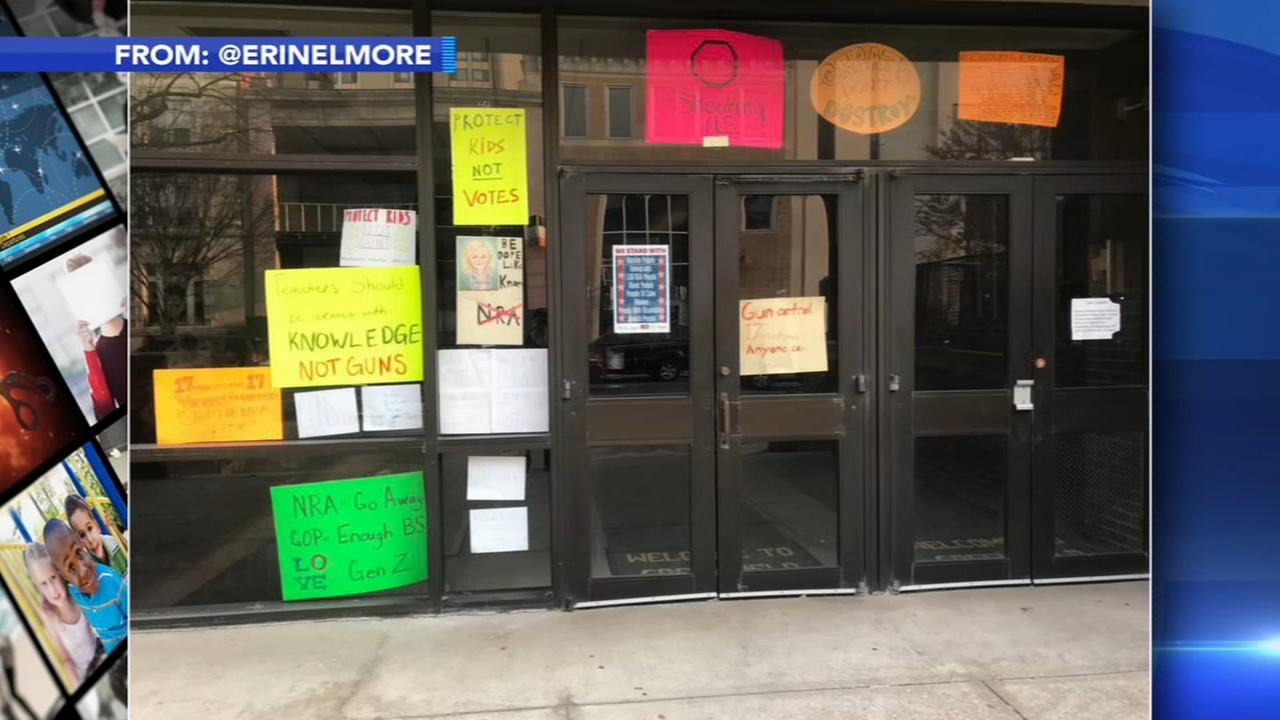 Center City school defends anti-NRA signs made by students