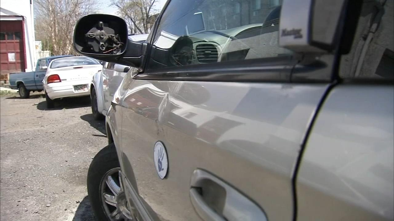 Vehicles beloning to agency that transports homeless vandalized