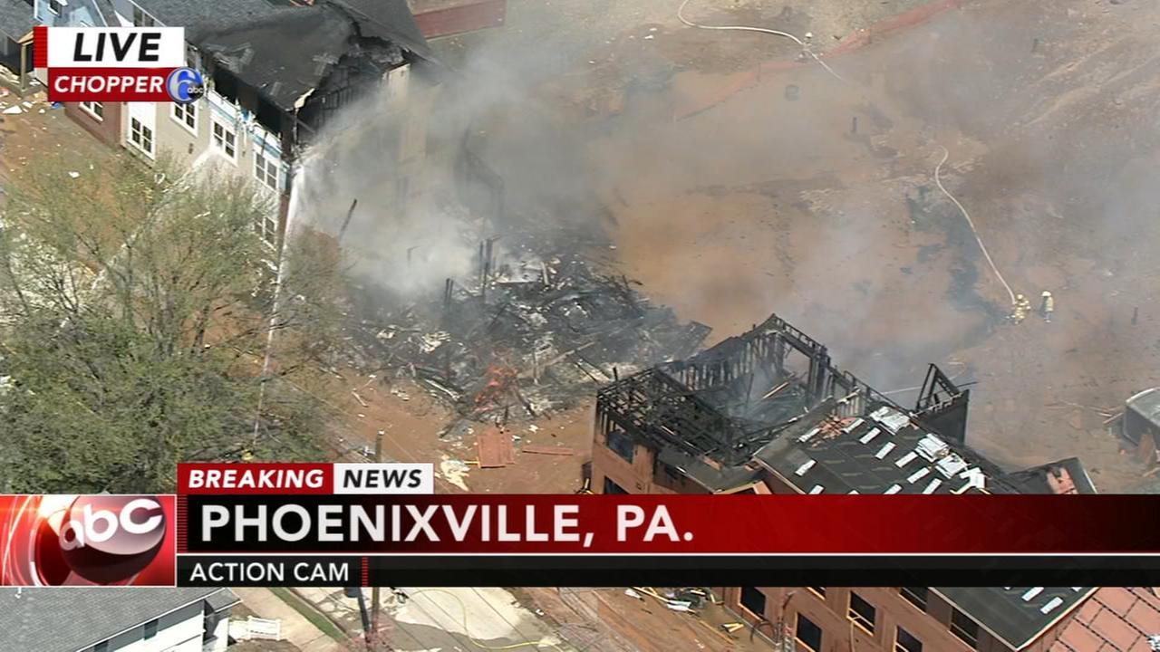 Fire destroys building in Phoenixville