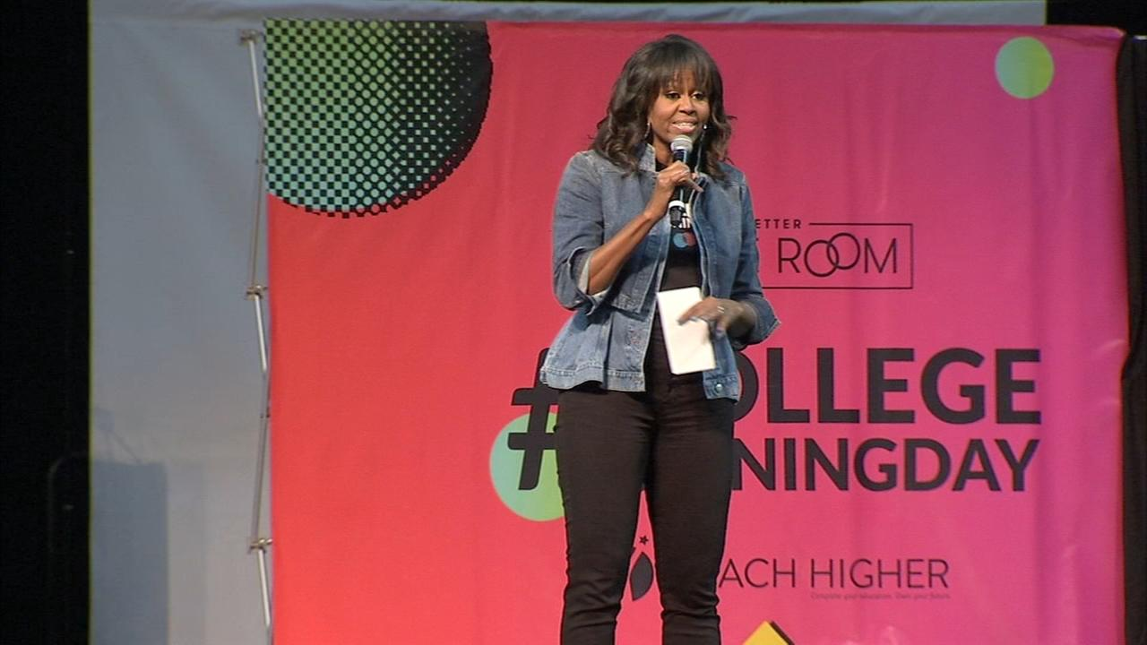 Michelle Obama, celebrities celebrate college signing day in Philly