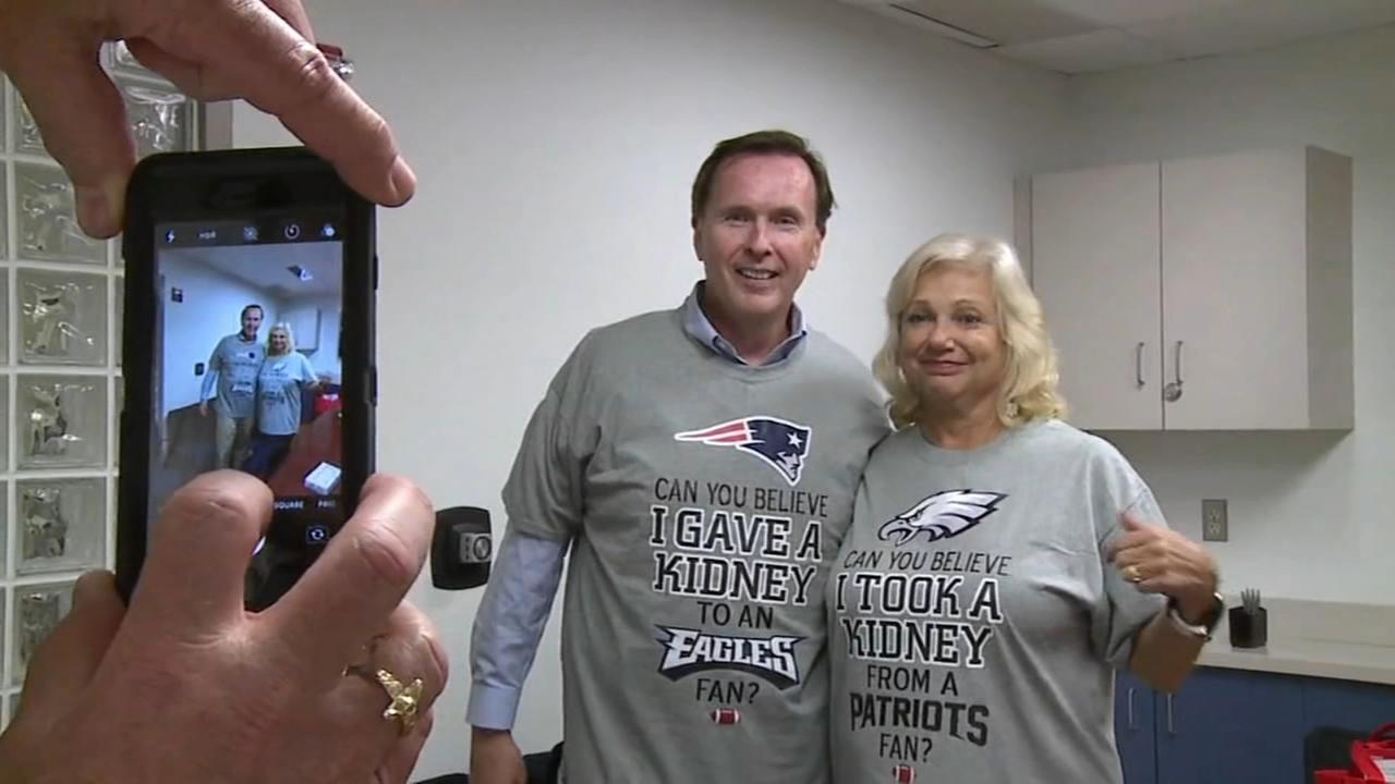 Patriots fan donates kidney to Eagles fan