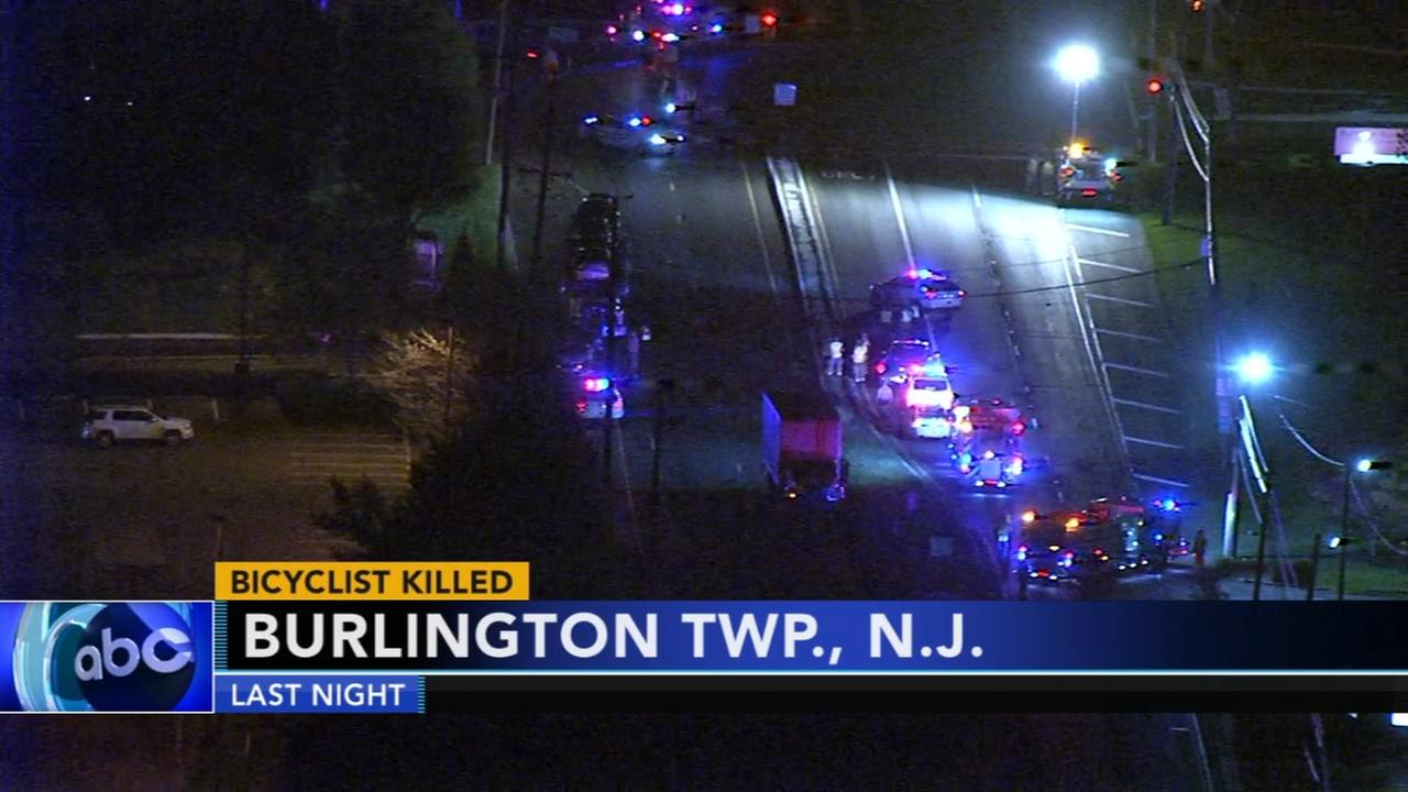 Bicyclist struck and killed in Burlington Twp.