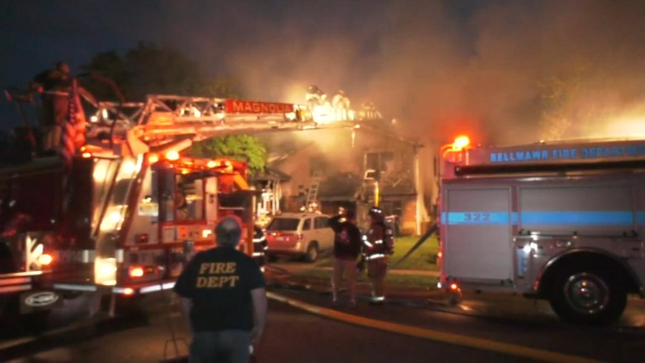 Fire destroys home in Gloucester Twp.