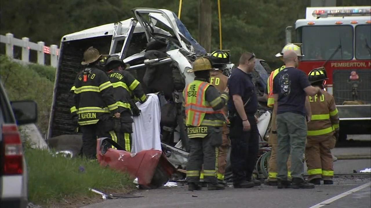 1 dead in 2-vehicle crash in Burlington County