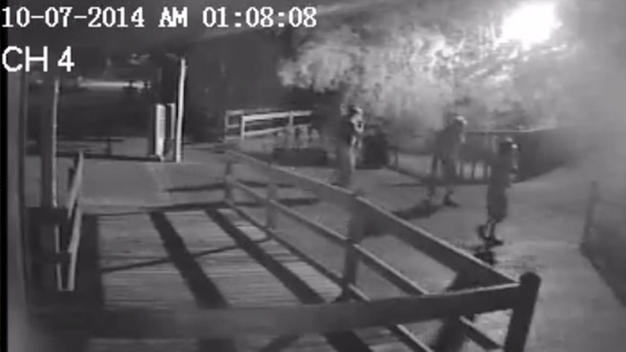 An image from video surveillance from the Hattiesburg Zoo.
