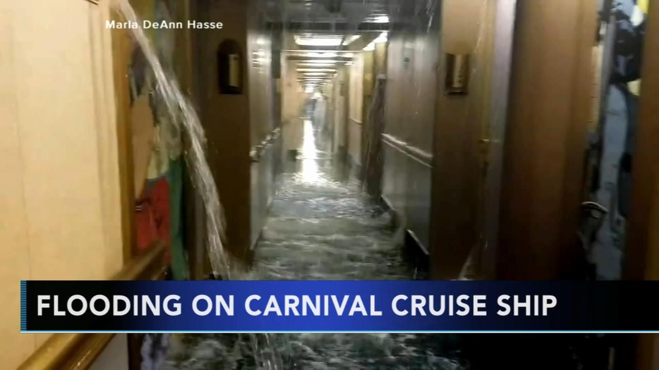 Flooding on Carnival Cruise ship