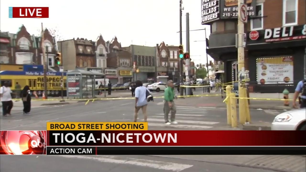 Daytime shooting on Broad Street