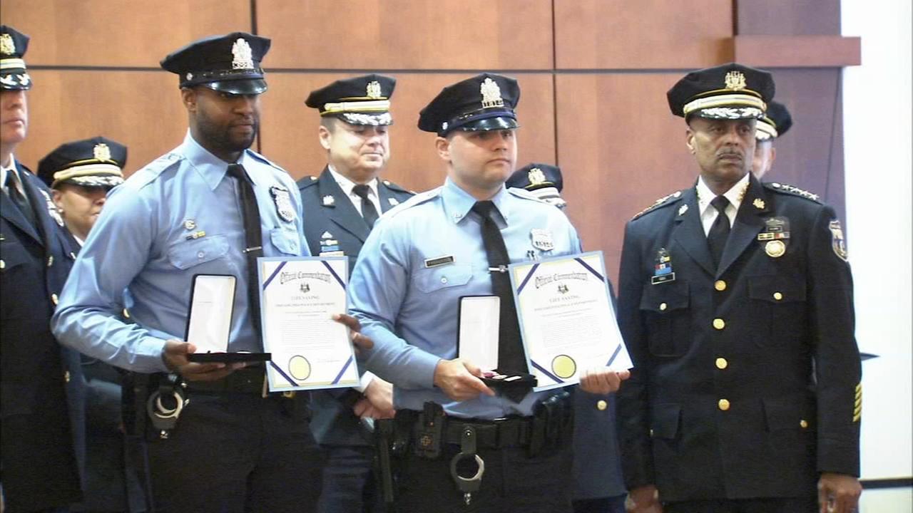 Police officers honored for heroism in NE Philadelphia