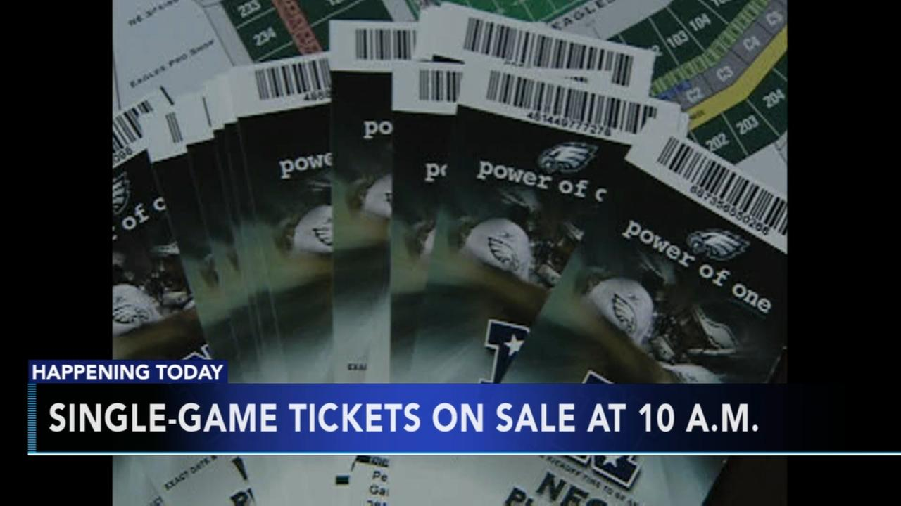 Eagles single-game tickets on sale Thursday