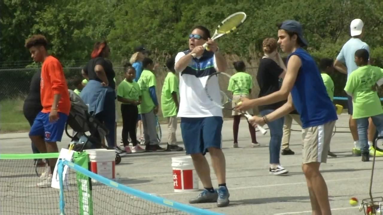 Wilmington Riverfront transformed for 32nd Tennis in the Streets.